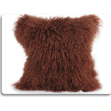 Elegant Warm Soft Handmade Real Lamb  Fur Pillow